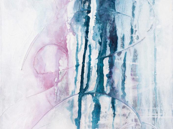 "Freefall, Acrylic on Canvas - 24"" x 36"""