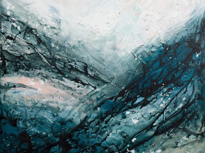 "Whispering Deep II, Acrylic on Canvas - 30"" x 30"""